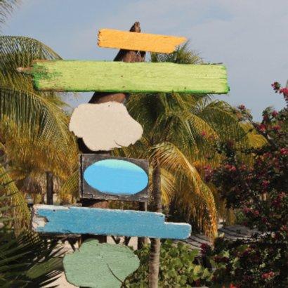 Zomerse uitnodiging palm hout 2