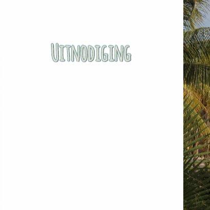 Zomerse uitnodiging palm hout 3