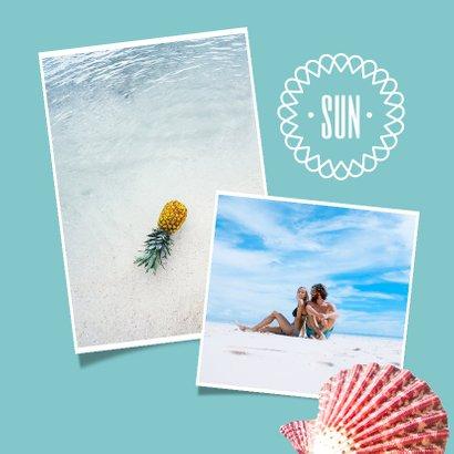 Zonnige vakantiekaart voor een strandvakantie 2