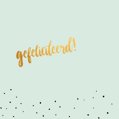 Zwager - gold felicitatie kaart 2