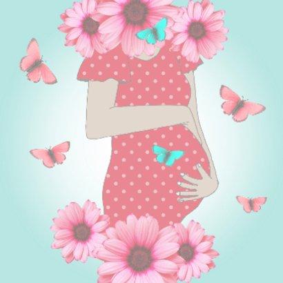 Zwanger bloemen en vlinders 2