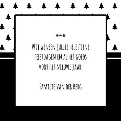 Zwart Wit kerstbomen Tekst 3