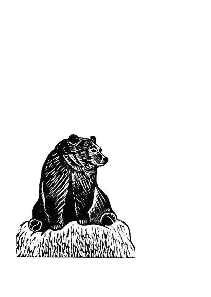 Zwart-wit woonkaart beer  2