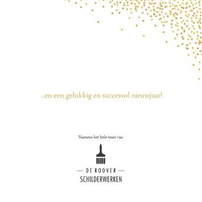 Zwarte zakelijke kerstkaart met goudlook letters 3