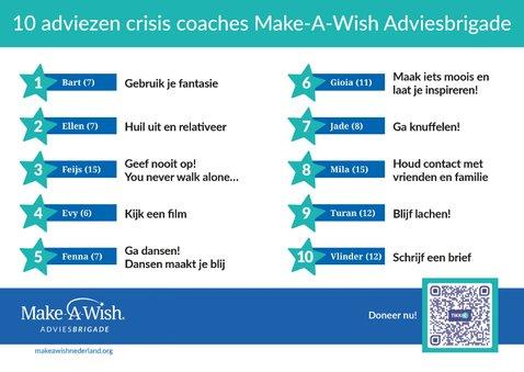 10 adviezen crisis coaches Make-A-Wish Adviesbrigade 2