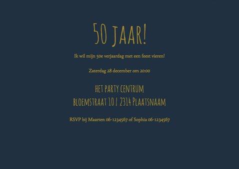 50 jaar verjaardag  feestje sterren nacht 3