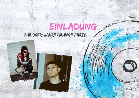 90er Grunge Party Einladung 2