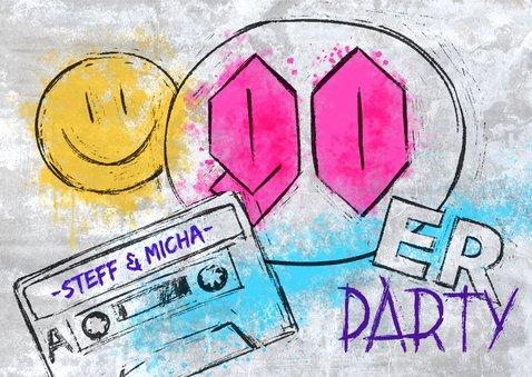 90er grunge party einladung - einladungskarten | kaartje2go