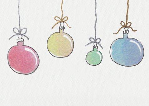 Aquarel kerstballen 2