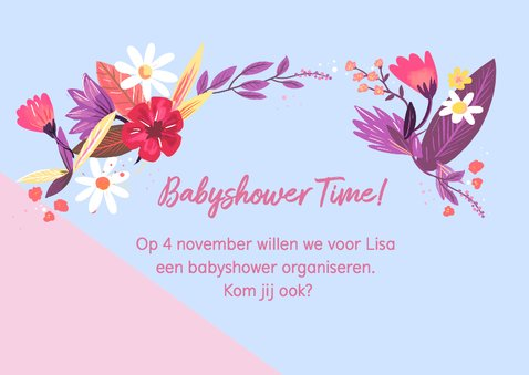 Babyshower Time bloemen 2