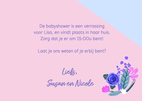 Babyshower Time bloemen 3