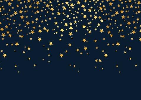 Bedankkaart communie stijlvol sterren goudlook 2