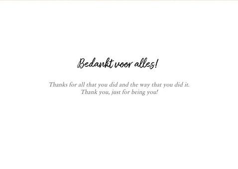 Bedankkaart - fotocollage thank you 3