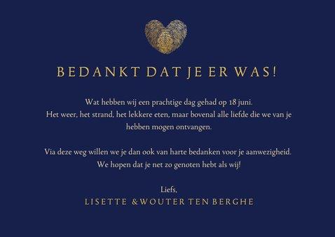 Bedankkaart huwelijk met vingerafdrukken - two became one 3