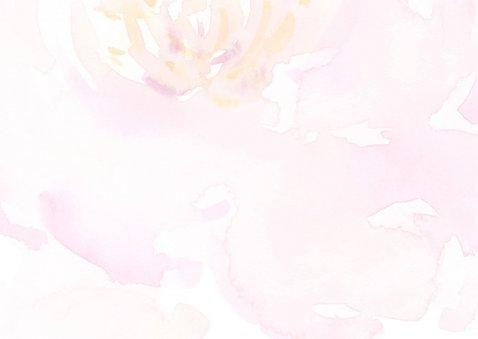 Bedankkaart pastel rozen met foto 2