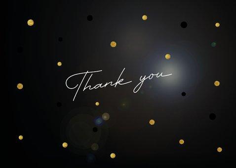 Bedankkaart Thank you op stijlvolle achtergrond 2