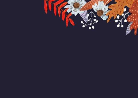 Bedankkaartje huwelijk herfstbladeren 2