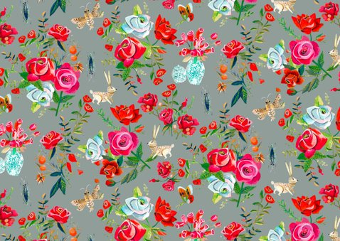 Bedankkaartje Secret Rose Garden 2
