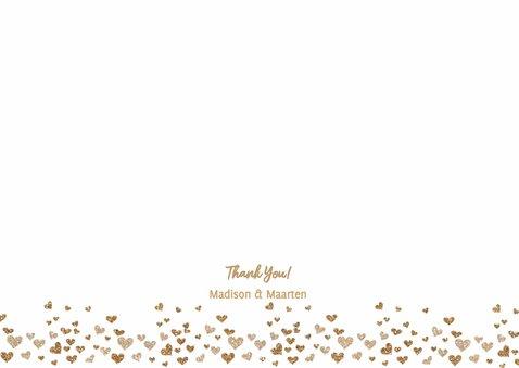 Bedankt bruiloft goud hartjes  3