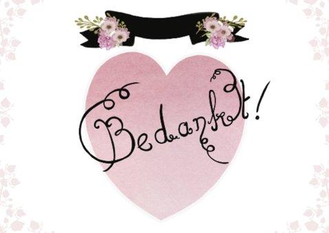 Bedankt huwelijk hart 2