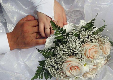 Bedankt kaartje trouwen fotocollage met 10 foto's 2