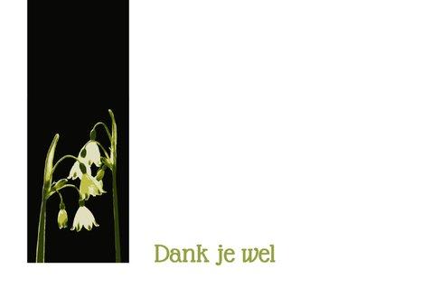 Bedankt - zwart met lenteklokjes 2