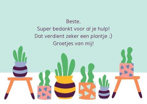 Bedanktkaart cactus vetplanten 3