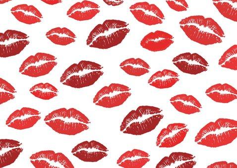 Beterschapskaart get well zoen met veel beterschaps kussen 2