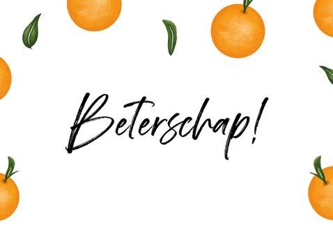 Beterschapskaart met fruit en beterschap 2