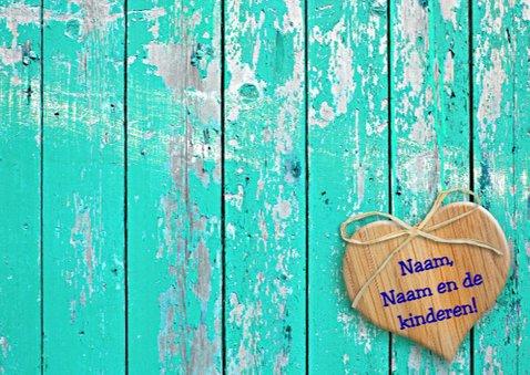 Beterschapskaart Zonnebloem met hart en wens 3