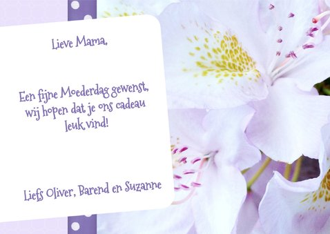 Bloemenkaart De liefste - BK 3