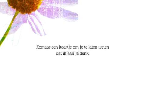 Bloemenkaart margrietje in kleur 3