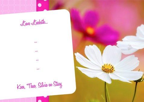 Bloemenkaart Moederdag - BK 3