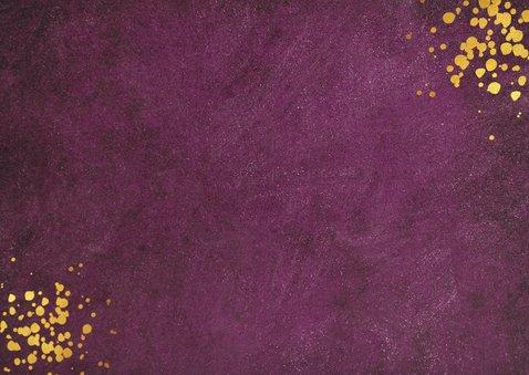 Bordeaux kleurige uitnodiging voor zakelijke kerstborrel Achterkant
