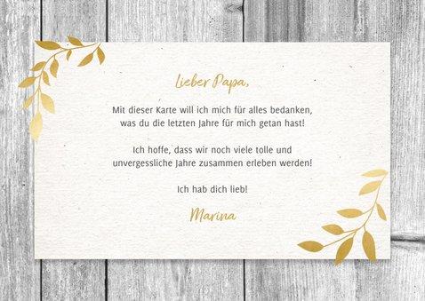 Botanische Vatertagskarte Fotocollage im Holzlook 3
