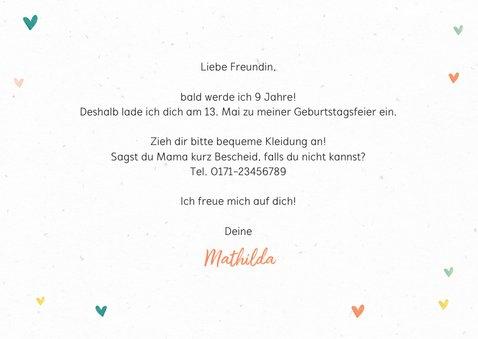 Bunte Einladung Kindergeburtstag Foto & Schild 3