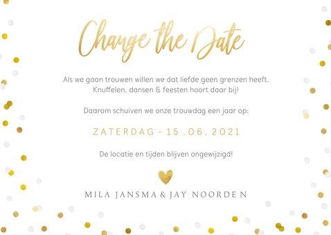 Change the date - Annuleringskaart Corona met eigen foto 3