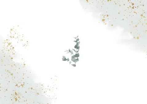 Change the Date kaart eucalyptus en groene waterverf Achterkant