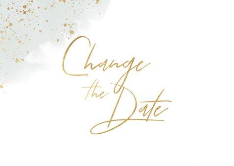 Change-the-date-Karte zur Hochzeit Eukalyptus 2