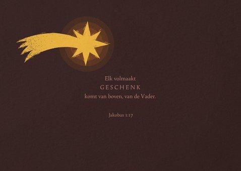 Christelijke kerstkaart kerststal met ster 2