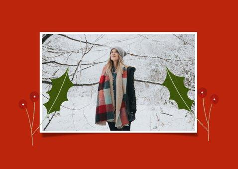 Christelijke kerstkaart met engeltjes en banner 2