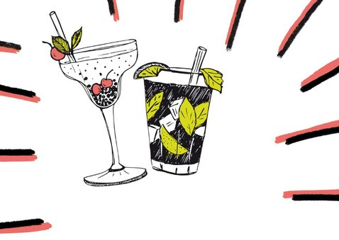 Cocktails verjaardagskaart 2