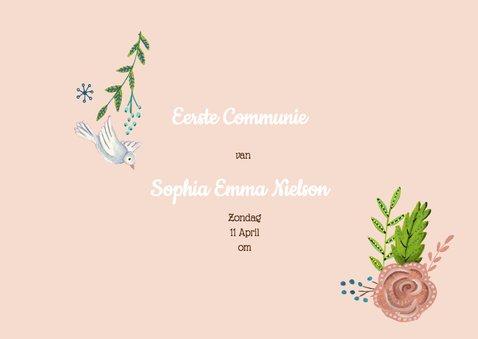 Communie Bloemen Hout Kruis 3