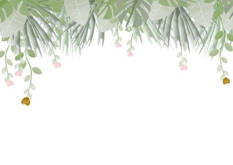 Communie trendy foto bedank kaart botanische stijl 2