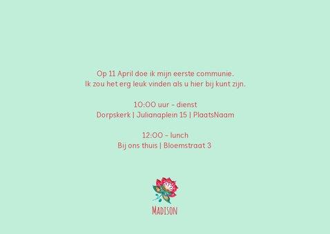Communiekaart bloemen hip 3