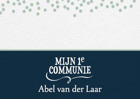 Communiekaart confetti en toffe foto 2
