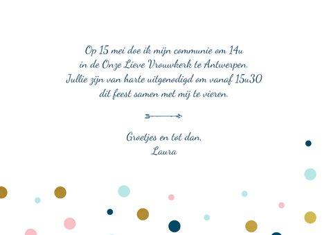 Communiekaart meisje confetti 3