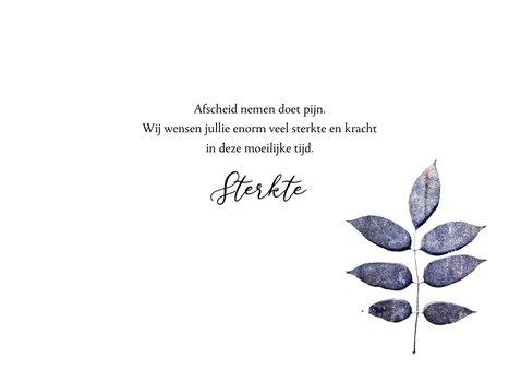 Condoleance kaart purple leaf 3