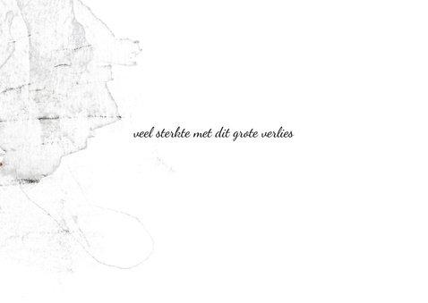 Condoleance kaart witte orchidee 3