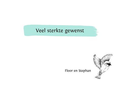 Condoleance - met oprechte deelneming vogel  3